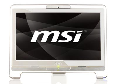 MSI WIND TOP AE1900-02CZ touchscreen s WIN XP HOME CZ (Atom N230, 18.5inLCD, 160GB HDD, 1GB SO-DDR2 max2GB, VGA, WiFi, DVD vypalovačka, 7.1, GLAN, bílý)